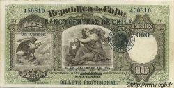 10 Pesos - 1 Condor CHILI  1925 P.074 TTB+