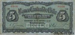 5 Pesos - 1/2 Condor CHILI  1930 P.082 TB