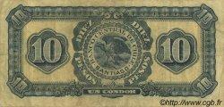 10 Pesos - 1 Condor CHILI  1928 P.083b TTB