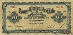 10 Pesos - 1 Condor CHILI  1928 P.083b TB+