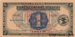 1 Peso - 1/10 Condor CHILI  1933 P.088b SPL