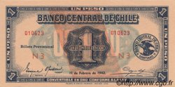 1 Peso - 1/10 Condor CHILI  1942 P.089 pr.NEUF