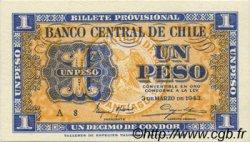 1 Peso - 1/10 Condor CHILI  1943 P.090a NEUF