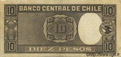 10 Pesos - 1 Condor CHILI  1931 P.092a TTB