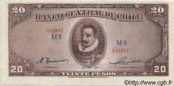 20 Pesos - 2 Condores CHILI  1947 P.093b pr.NEUF