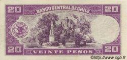 20 Pesos - 2 Condores CHILI  1947 P.093b SPL