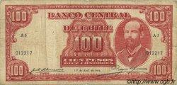 100 Pesos - 10 Condores CHILI  1936 P.095 pr.TB