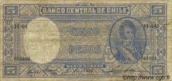 5 Pesos - 1/2 Condor CHILI  1946 P.102 TB