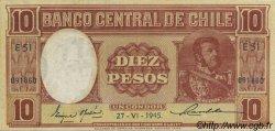 10 Pesos - 1 Condor CHILI  1945 P.103 SUP