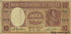 10 Pesos - 1 Condor CHILI  1946 P.103 TB