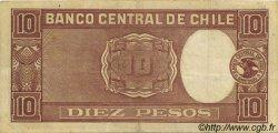 10 Pesos - 1 Condor CHILI  1946 P.103 TTB+