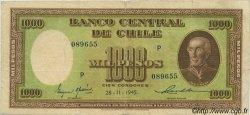 1000 Pesos - 100 Condores CHILI  1945 P.107 TB