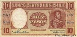 10 Pesos - 1 Condor CHILI  1947 P.111 TTB
