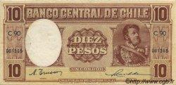 10 Pesos - 1 Condor CHILI  1947 P.111 TTB+