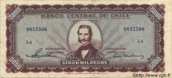 5000 Pesos - 500 Condores CHILI  1947 P.117a pr.TTB