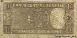 10 Pesos - 1 Condor CHILI  1958 P.120 B+