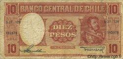 10 Pesos - 1 Condor CHILI  1958 P.120 TB à TTB