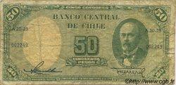 50 Pesos - 5 Condores CHILI  1958 P.121a pr.TB