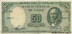 50 Pesos - 5 Condores CHILI  1958 P.121a SUP
