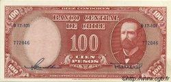 100 Pesos - 10 Condores CHILI  1958 P.122 SPL