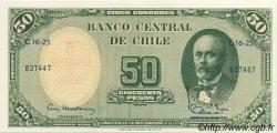 5 Centesimos sur 50 Pesos CHILI  1960 P.126b SPL
