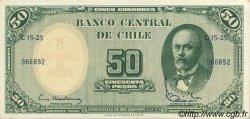 5 Centesimos sur 50 Pesos CHILI  1960 P.126b NEUF