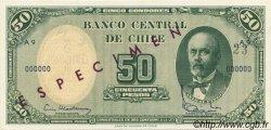 5 Centesimos sur 50 Pesos CHILI  1960 P.126s NEUF