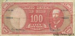 10 Centesimos sur 100 Pesos CHILI  1960 P.127 TB