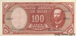 10 Centesimos sur 100 Pesos CHILI  1960 P.127 SUP