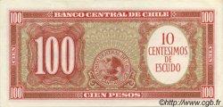 10 Centesimos sur 100 Pesos CHILI  1960 P.127 SPL