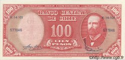 10 Centesimos sur 100 Pesos CHILI  1960 P.127 NEUF