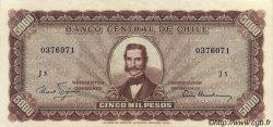 5 Escudos sur 5000 Pesos CHILI  1960 P.130 SUP