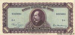 10 Escudos sur 10000 Pesos CHILI  1960 P.131 SUP+