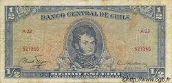 1/2 Escudo CHILI  1962 P.134a TB+