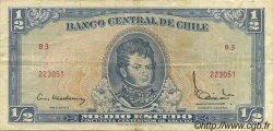 1/2 Escudo CHILI  1962 P.134a TTB
