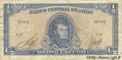 1/2 Escudo CHILI  1962 P.134A pr.TTB