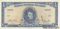 1/2 Escudo CHILI  1962 P.134A NEUF