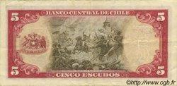 5 Escudos CHILI  1964 P.138 TTB