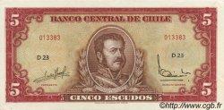 5 Escudos CHILI  1964 P.138 SUP