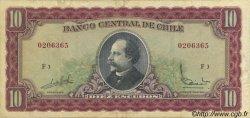 10 Escudos CHILI  1964 P.139a TTB