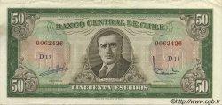 50 Escudos CHILI  1964 P.140a TTB+