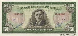 50 Escudos CHILI  1964 P.140b SPL