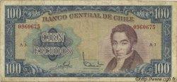 100 Escudos CHILI  1964 P.141a B+