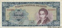 100 Escudos CHILI  1964 P.141a pr.TTB