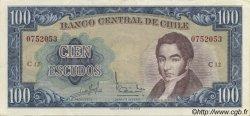 100 Escudos CHILI  1964 P.141a SUP
