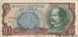 10 Escudos CHILI  1970 P.142 TTB