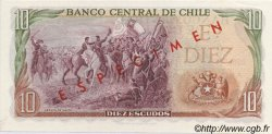 10 Escudos CHILI  1970 P.142s NEUF