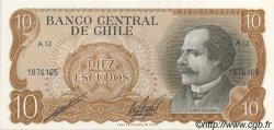 10 Escudos CHILI  1970 P.143 NEUF