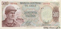 500 Escudos CHILI  1971 P.145 SUP