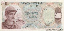 500 Escudos CHILI  1971 P.145 pr.NEUF